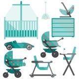 Мебель комнаты младенца Стоковые Фото