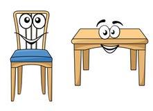 Мебель милого шаржа деревянная Стоковое Изображение