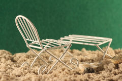 Мебель пляжа стоковые фото