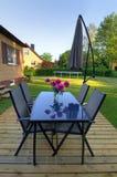 Мебель сада в сезоне лета Стоковые Фотографии RF