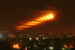 Мегаполис луны Стоковое фото RF