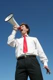 мегафон бизнесмена Стоковые Фотографии RF
