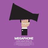 Мегафон в руке Стоковая Фотография