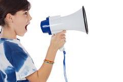 мегафон девушки Стоковое Изображение
