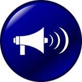 мегафон кнопки Стоковая Фотография