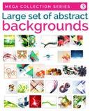 Мега комплект абстрактных предпосылок Стоковое Изображение RF