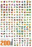 Мега комплект - infographic шаблоны сделанные из бумаги Стоковая Фотография RF