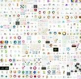 Мега собрание абстрактных дизайнов логотипа компании Стоковое фото RF