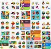 Мега собрание плоского infographics сети Стоковое Изображение