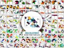 Мега собрание 100 шаблонов печати годового отчета вектора бесплатная иллюстрация
