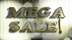 Мега текст золота 3D продажи стоковые изображения