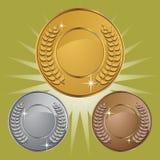 медали монетки предпосылки Стоковые Изображения
