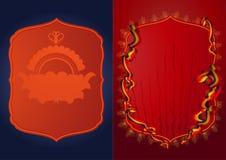 медальон эмблемы карточки Стоковые Изображения