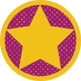 Медаль при шаблон звезды изолированный на белой предпосылке Стоковое фото RF
