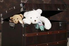 медведи кладут приходить в коробку вне игрушечный Стоковое Изображение RF