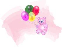 медведь воздушных шаров Иллюстрация вектора