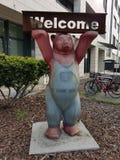 Медведь желанный гость Берлина стоковое фото rf