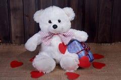 Медведь игрушки белый Стоковое Изображение