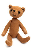 медведь изолировал белизну сбора винограда игрушечного Стоковое Фото