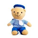 медведь изолированный над белизной игрушечного Стоковое Фото