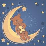 медведь мечтает игрушечный помадки луны Стоковые Фотографии RF