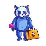 Медведь младенца в костюме хеллоуина иллюстрация вектора