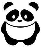 Медведь панды вектора изолированный на белой предпосылке Стоковое фото RF