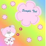 медведь предпосылки цветет розовая радуга Стоковая Фотография RF