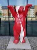 Медведь соединения красная белизна стоковые фотографии rf