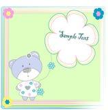 медведь цветет игрушка Стоковые Изображения