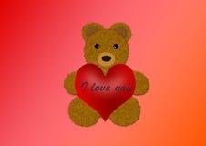 медведь я тебя люблю Иллюстрация вектора