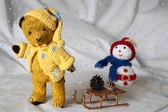 Медведь Morulet к toboggan Стоковые Изображения