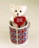 Медвежонок с красным сердцем Стоковые Фото