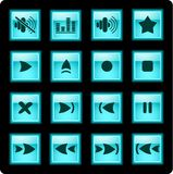 медиа-проигрыватель икон Стоковое фото RF