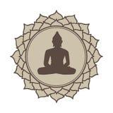 Медитативный цветок лотоса Будды стоковые фотографии rf