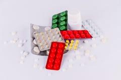 Медицина пилюлек & медицина пилюлек капсулы & antibiotics3 Стоковые Изображения RF
