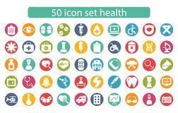 Медицина установленного дизайна значка и вектор здоровья иллюстрация вектора