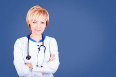 МЕДИЦИНСКАЯ принципиальная схема Доктор на работе стоковое изображение