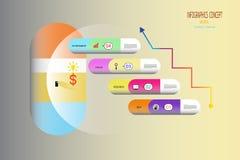 Медицинская стратегия рынка infographics медицинская и наука Стоковая Фотография