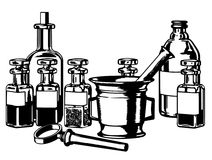 Медицинские бутылки стоковое фото rf