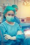 Медицинские доктор врача или команда хирургии в комнате деятельности с Стоковая Фотография RF