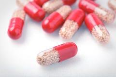 Медицинские красные пилюльки Стоковая Фотография RF
