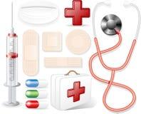 медицинские предметы Стоковое Изображение
