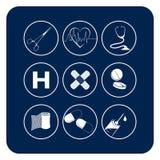 медицинские символы Стоковое Изображение RF