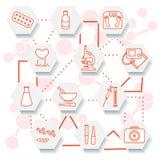 Медицинские службы, оборудование, инструменты и лекарства бесплатная иллюстрация