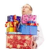 Медицинский доктор с много подарками стоковая фотография rf