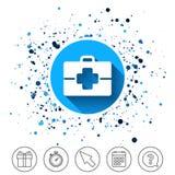 Медицинский значок знака случая Символ доктора Стоковая Фотография RF