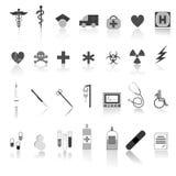 Медицинский комплект вектора иконы Стоковая Фотография RF
