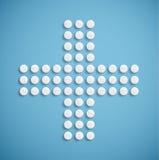 Медицинский крест от пилюлек Стоковое Изображение RF