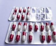 Медицинский пакет волдыря пилюлек лекарства Стоковое Изображение